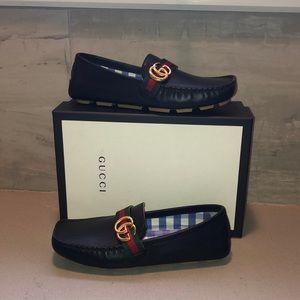 Gucci Kids Noel Driving Loafer
